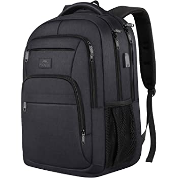 Laptop Backpack for Men,Durable Business Anti Theft Travel Laptops Backpack with USB Charging Port,15.6 Inch Water Resistant College School Bookbag Computer Work Backpack for Men Women Gift,Black