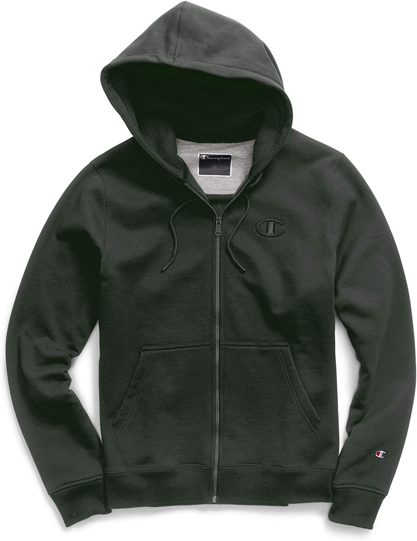 Champion Mens Super Fleece 2.0 Full Zip Hoodie, 2XL, Spruce Pine Green at  Men's Clothing store