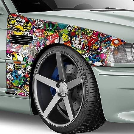 100x150cm Stickerbomb Auto Folie Glanz Sticker Logo Bomb Jdm Aufkleber Design Sponge Auto