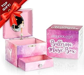 Play Platoon Ballerina Music Box for Girls - Ballet Dancer Jewelry Box with Drawer
