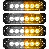 AK [8 Pack] LED Road Flares Safety Flashing Warning Light Roadside Emergency Disc Beacon Kit for Vehicles Boats with Magnetic Base & Hook