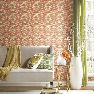 RoomMates Southwest Geometric Orange & Pink Peel and Stick Wallpaper | Removable Wallpaper | Self Adhesive Wallpaper