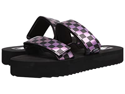 Vans Cayucas Slide Mega Platform ((Iridescent) Checker/Black) Women
