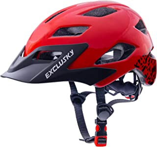 Exclusky Kids Bike Helmets Lightweight Adjustable Youth Helmet for Boys Girls 50-57cm(Ages 5-13)