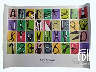 "Alfabeto ""ABC Scissors Font"" obra de Fabio De Minicis Póster tamaño 70 x 100 cm sin enmarcar"