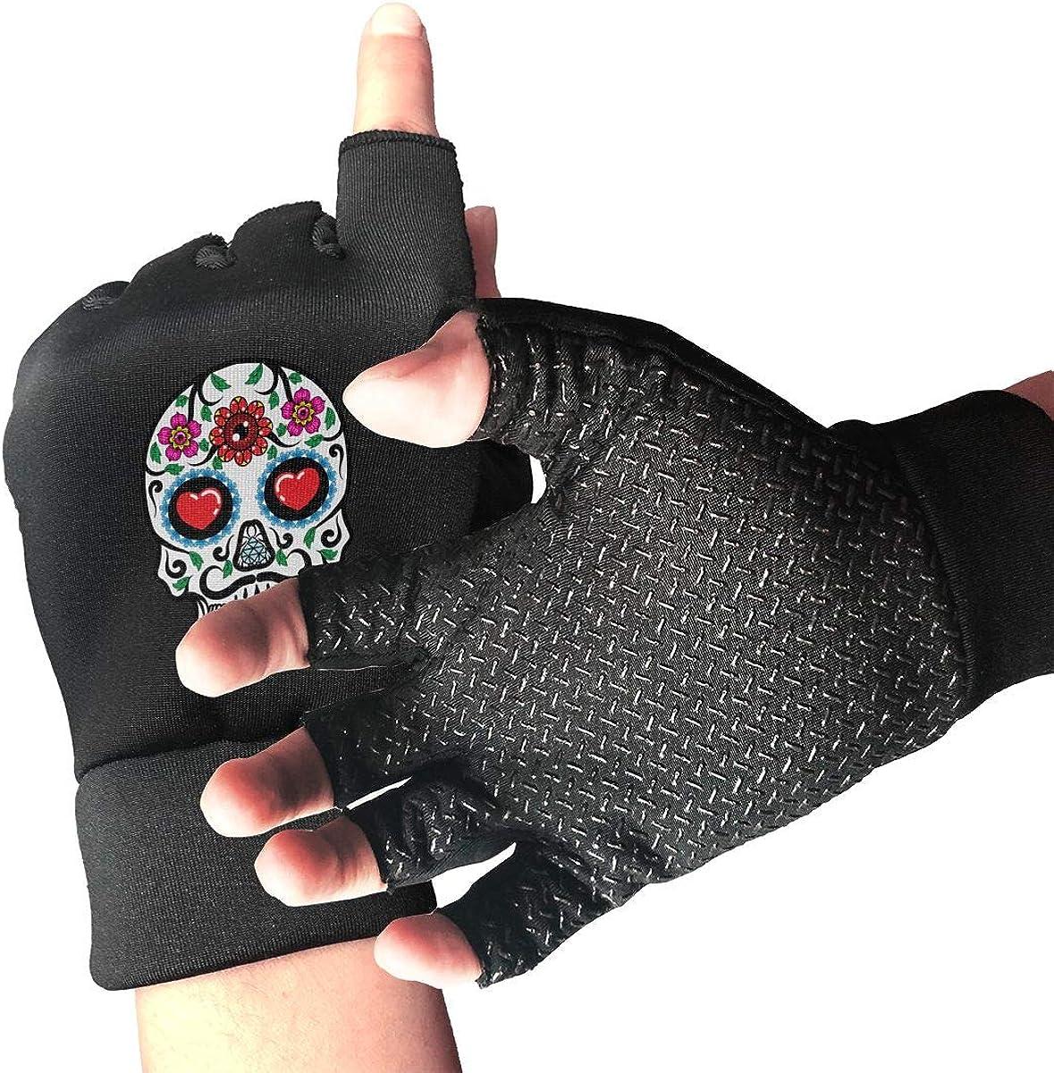 Gloves Love Skull Fingerless Gloves Short Touchscreen Gloves Winter Motorcycle Biker Mitten