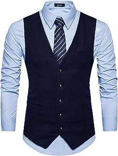 Cottory Men's Formal Slim Fit Premium Business Dress Suit 5Button Vest