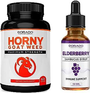 Premium Horny Goat Weed + Elderberry Syrup Bundle