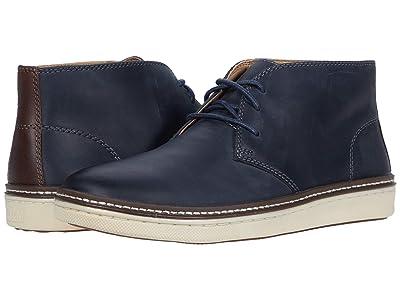 Johnston & Murphy McGuffey Chukka (Navy Oiled Full Grain Leather) Men