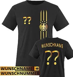 Fan T-Shirt und Baseballcap exklusiv zur Fu/ßball Weltmeisterschaft Druck auf dem R/ücken Flagge Set 2-teilig Tolles Geschenk!