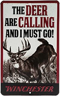Open Road Brands Winchester Deer Calling Embossed Metal Sign