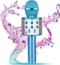 Tesoky Handhold Wireless Bluetooth Potable Kalaoke Microphone - Best Gift