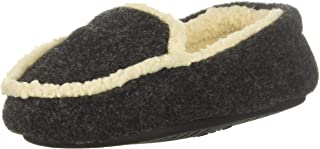 Dearfoams Kid's Plaid Moccasin with Pile Lining Slipper