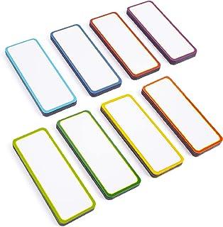 Magnetic Labels Dry Erase Set - 48 Reusable Strips for Classroom Home Office Garage Refrigerator - Blank Writable Erasable...