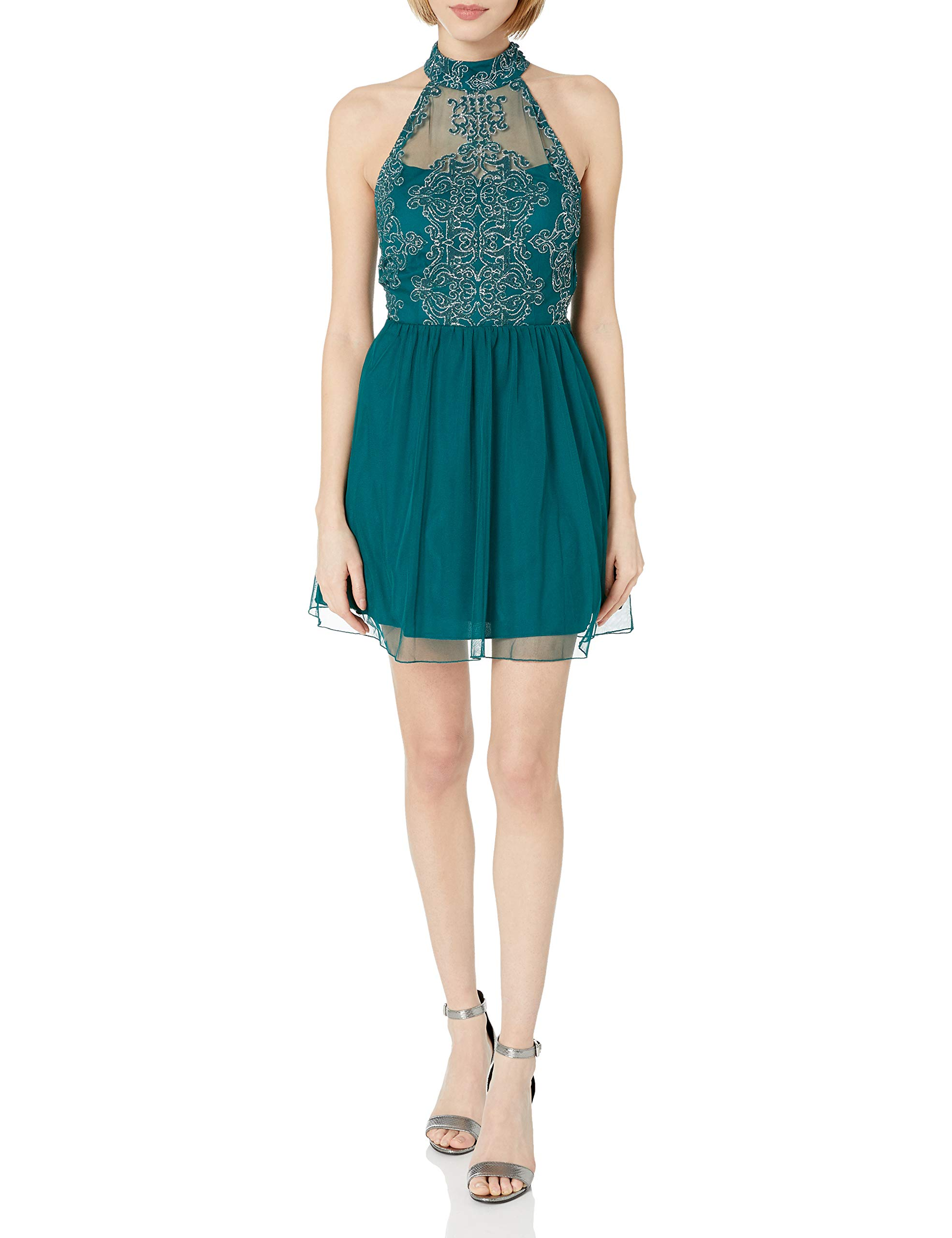 Available at Amazon: Speechless Women's Mock Neck Party Dress