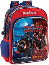 Marvel 26423A1 Civil War Mochila Escolar, 15.6 litros, Color Rojo