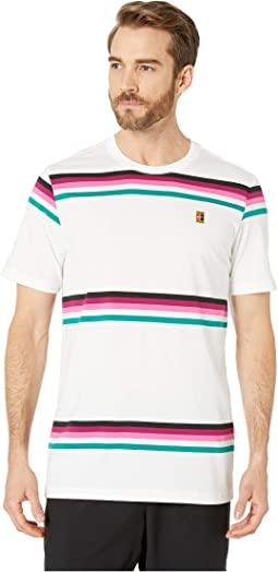NikeCourt T-Shirt Heritage Stripe