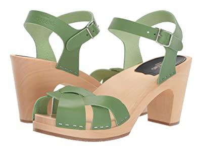 Swedish Hasbeens Kringlan (Grass Green) High Heels