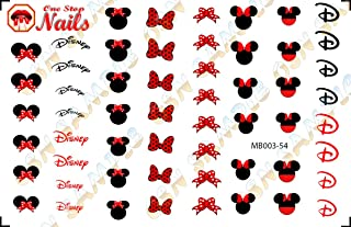 Minnie Mouse Bow Waterslide Nail Decals by One Stop Nails V3Aa.