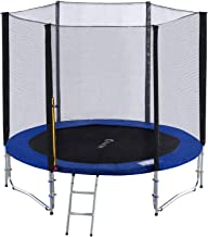 Exacme 8 Foot Heavy Duty Trampoline with Enclosure Net, Safety Pad and Ladder All-in-one Combo Set