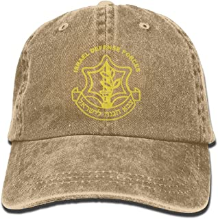 Israeli Defense Force Logo Denim Hats Adjustable Jeans Caps Baseball Cap Dad Hats
