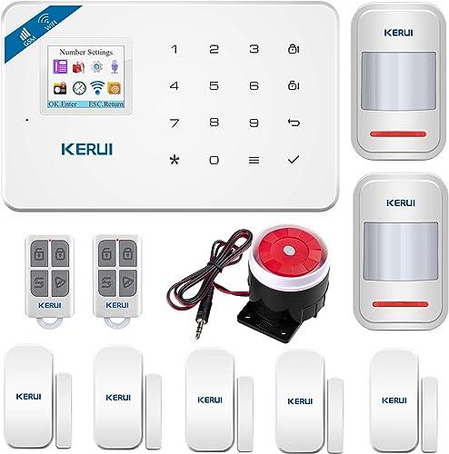 KERUI W18 GSM WIFI Sistema de Alarma Seguridad para Hogar por CALL/SMS/APP, Kits Alarma Antirrobo Inalámbrico DIY con...