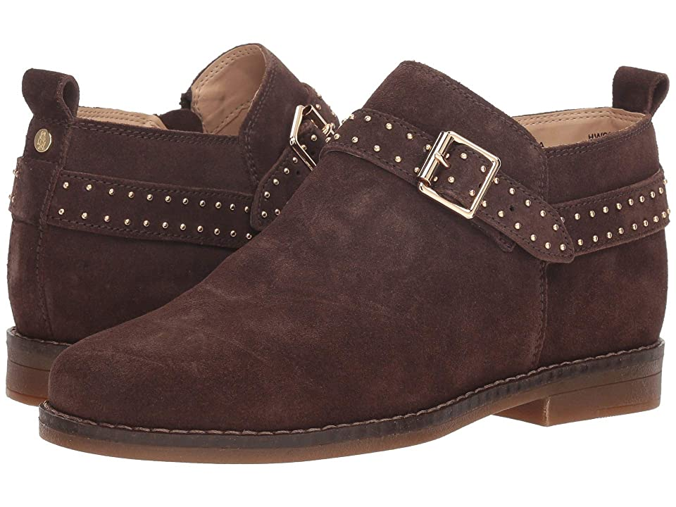 Hush Puppies Cayto Studded Belt (Dark Brown Suede) Women
