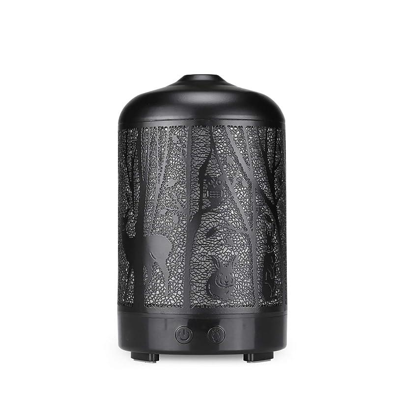 複合相互こっそりエッセンシャルオイルディフューザー、100 ml超音波金属ディアーアロマセラピー香り油拡散気化器加湿器