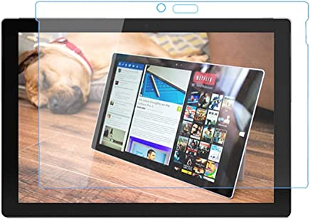 Yeetech 易科达 微软 Surface Pro6 (2018) 钢化膜 Surface Pro 6 弧边钢化玻璃保护膜 高清高透贴膜 9H硬度 2.5D弧度圆边设计 平板电脑保护膜 透明 (Surface Pro6)