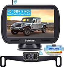 Wireless Backup Camera for Trucks with 5'' Monitor, DoHonest S23 HD 1080P Bluetooth Backup Camera Stable Digital Signals f...