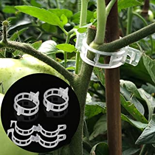 LEOBRO 150PCS Plant Support Garden Clips for Vine Vegetables, Tomato Trellis Clips, Make Garden Vegetable Grow Upright and...