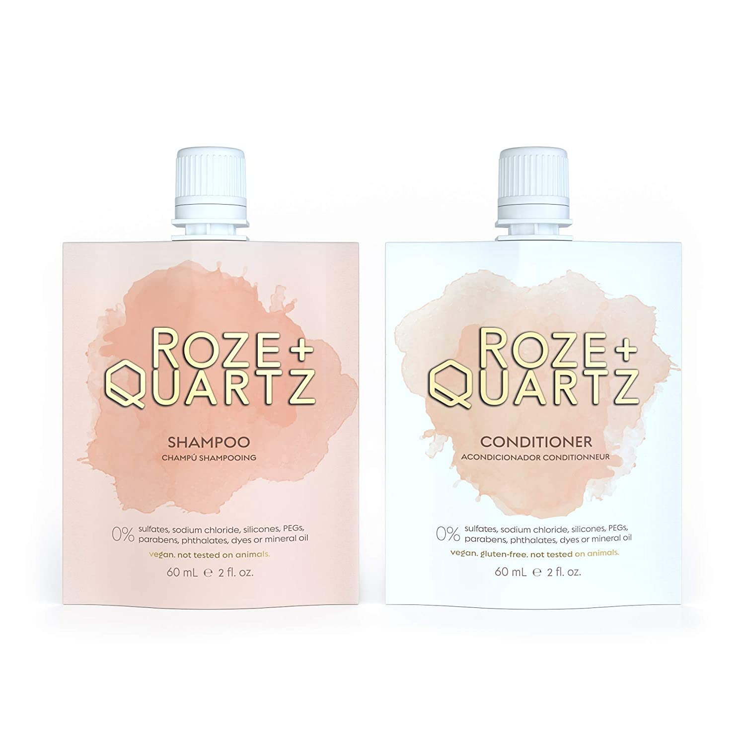 Roze + Quartz Hydrating Shampoo and Sil New Cheap mail order shopping mail order Conditioner Set-Paraben