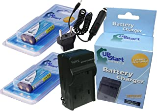 Replacement for Panasonic DMW-BLD10 Digital Camera Battery and Charger 1010mAh, 7.2V, Lithium-Ion Charger with Car /& EU Adapters Panasonic DMW-BLD10PP Battery 2X Pack
