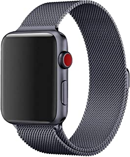 Midkart Grey Milanese Loop Strap for Apple Watch 38mm / 40mm (Both Have Same Fit) Magnetic Lock Stainless Steel Belt for Series 1/2 / 3/4 / 5