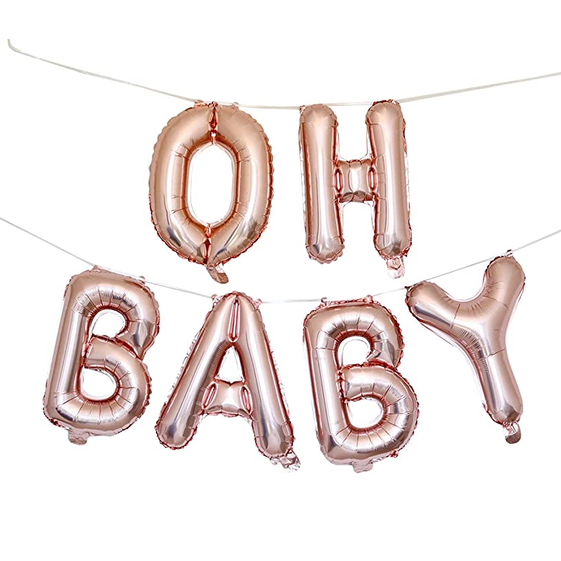 OH Baby Balloons Baby Shower Decorations - 16