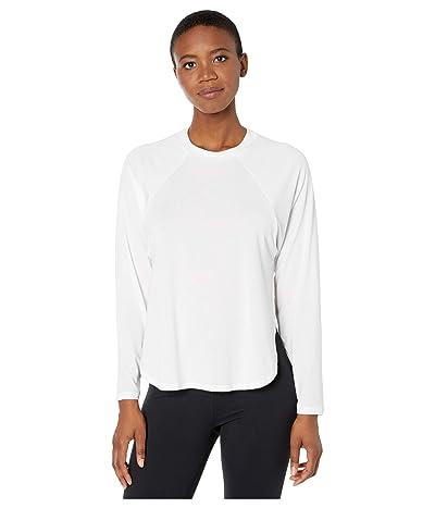New Balance Evolve Side Slit Long Sleeve (White) Women
