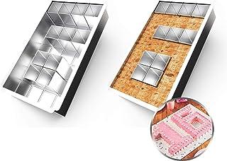 Anokay Plaque de Cuisson rectangulaire / Moule à Gâteau et 12 de Blocs carrés amovibles pour Faire le Gâteau avec n'import...