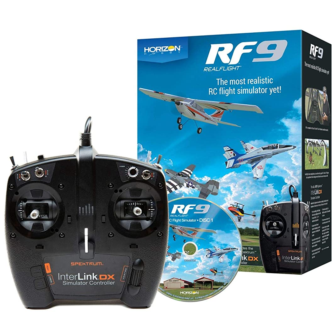 ジム耐久ネットHORIZON RealFlight RF9 Flight Simulator w/Spektrum Controller RFL1100