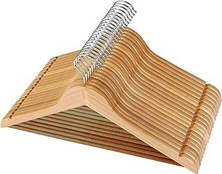 Utopia Home Premium Wooden Hangers - (Pack of 20) - Suit Hangers - Natural Finish