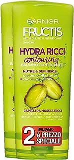 Garnier Fructis Balsamo Crema Fortificante Hydra Ricci per Capelli da Mossi a Ricci con Estratto di Linfa di Bambù, 200 ml