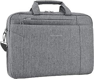 KROSER Laptop Bag 15.6 Inch Briefcase Shoulder Bag Water Repellent Laptop Bag Satchel Tablet Bussiness Carrying Handbag Laptop Sleeve for Women and Men-Grey