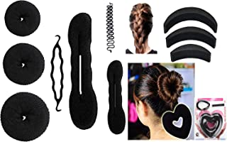 Homeoculture Combo Of 15 Hair Accessories for women and girls, Black color, 180 grams