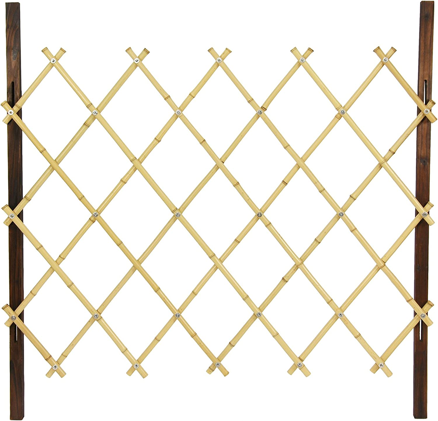 Oriental Furniture 3-Feet Tall Diamond Bamboo Fence, Natural