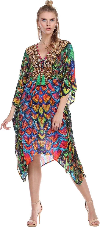 La Moda 物品 Caftans for Women Animal Kaftan Lounge Bohemian Dresses 正規認証品!新規格