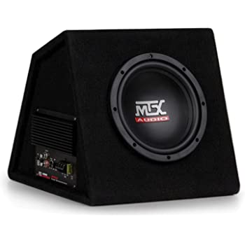 """MTX AUDIO RTP8A 8"""" 120W Car Loaded Subwoofer Enclosure Amplified Box Vented"""