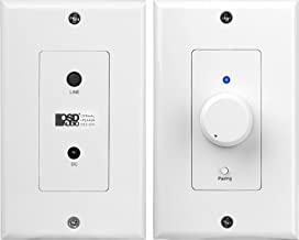 OSD Audio in-Wall 50W Amplifier with Bluetooth/Aux Input, Rotary Knob and Decora Plates - XWB50