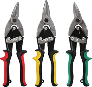 WORKPRO 3-piece 10 inch Aviation Snips Set(Straight Cut & Left Cut & Right Cut)