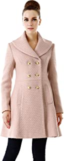 Women's Wool Blend Shawl Collar Walking Coat
