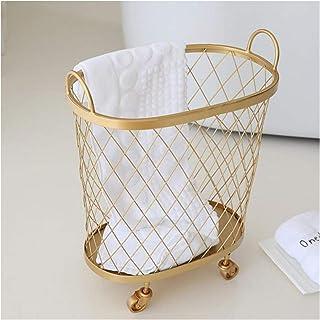 WJCRYPD Moderne Golden Mode Storage Basket Vêtements Sale Vêtements De Stockage Panier Roue À La Buanderie Chaussure À La ...