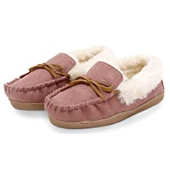 bf5d0b9fd28 Pembrook Ladies Moccasin Slippers Micro suede Indoor and Outd .
